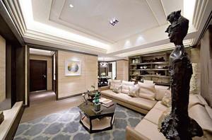 138平米新中式风格精致三室两厅室内装修效果图