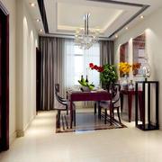 中式风格大户型精致餐厅吊顶设计装修效果图