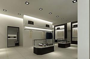72平米现代简约风格服装店装修效果图