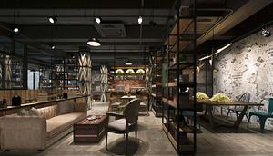 86平米混搭风格咖啡厅装修效果图赏析