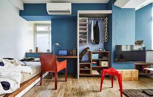 42平米混搭风格单身公寓设计装修效果图