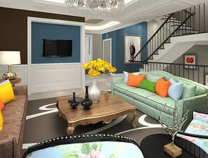 218平米简欧风格精致别墅室内装修效果图