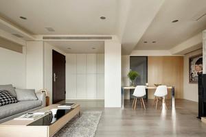 79平米简约风格温馨两室一厅设计装修效果图