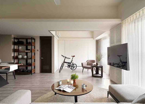 85平米简约风格两室两厅室内装修效果图赏析