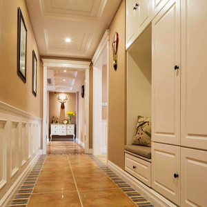 120平米美式混搭风格室内装修效果图案例