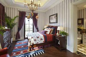 270平米美式风格精致别墅装修效果图实例