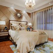 美式风格浅色温馨卧室背景墙装修效果图赏析