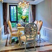 欧式风格别墅室内精美餐厅吊顶设计装修效果图