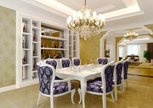 欧式风格大户型室内精美餐厅吊灯设计装修效果图