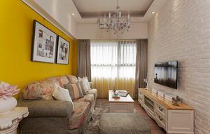 100平米简约美式风格室内装修效果图案例