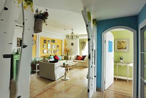 90平米美式田园风格自然清新室内装修效果图赏析