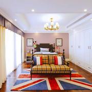 美式风格大户型卧室整体衣柜设计装修效果图