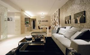 现代风格精致三室两厅室内装修效果图案例