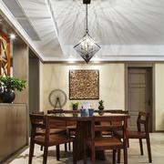 新中式风格古典雅韵餐厅吊灯装修效果图