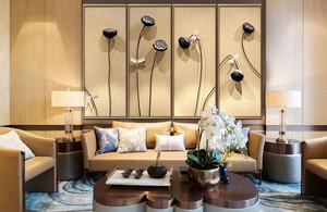 中式风格精致客厅装饰画设计装修效果图赏析