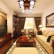 中式风格古典雅韵客厅吊顶装修效果图赏析