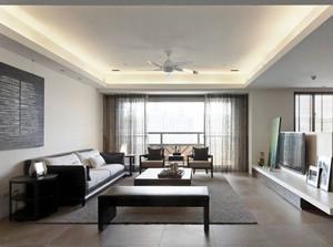 中式风格简约客厅吊顶设计装修效果图赏析