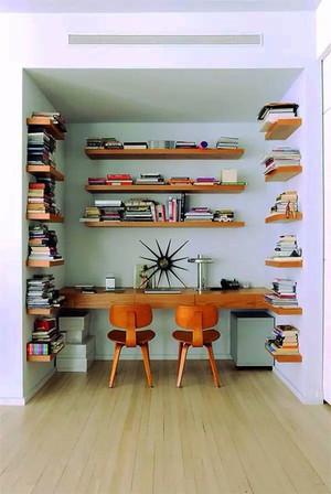 北欧风格简约小书房设计装修效果图赏析