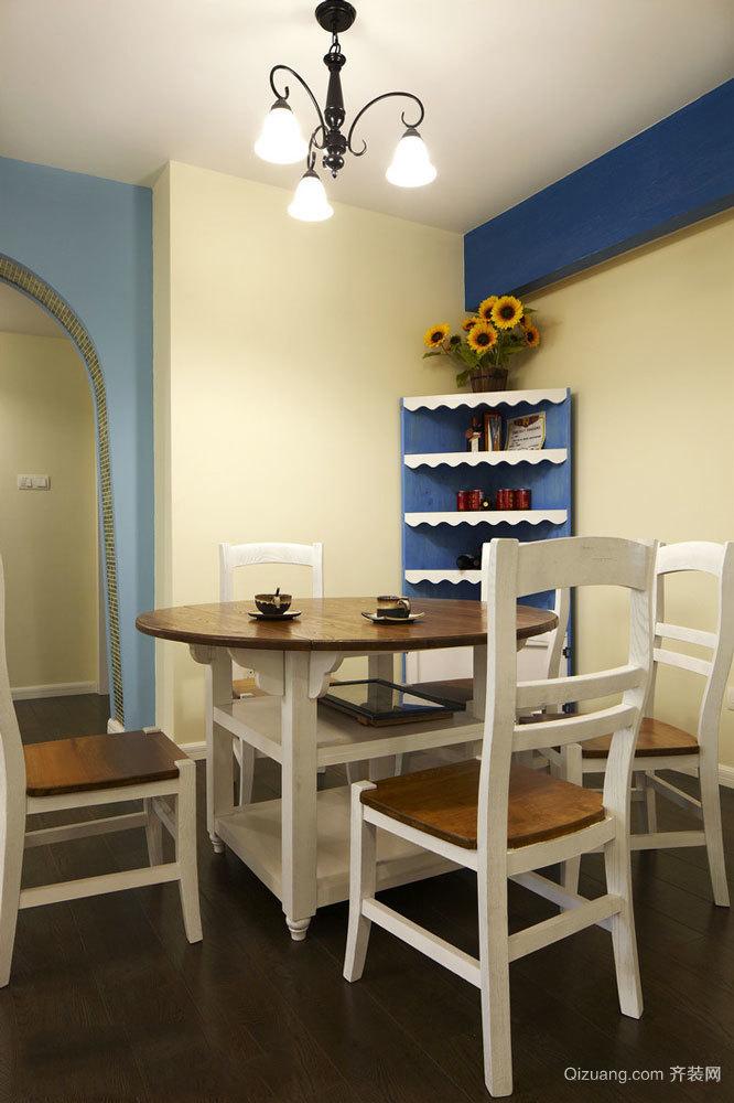 84平米地中海风格简约两室两厅室内装修效果图案例