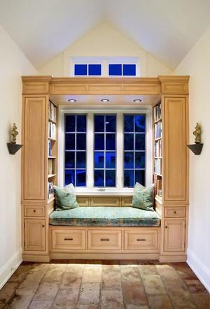 美式风格别墅室内精致飘窗设计装修效果图