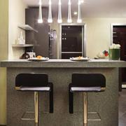后现代风格小户型开放式厨房吧台装修效果图