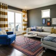 时尚混搭风格客厅窗帘设计装修效果图赏析
