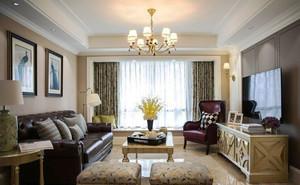 混搭风格精致客厅吊灯设计装修效果图赏析