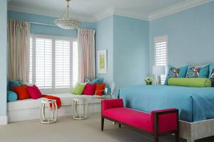 清新风格简约卧室飘窗设计装修效果图赏析