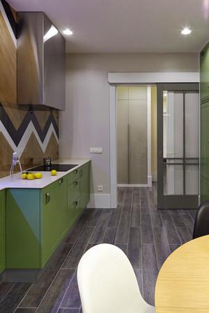 现代简约风格浅色开放式厨房装修效果图赏析