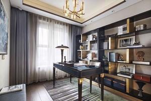 新中式风格精致典雅书房设计装修效果图