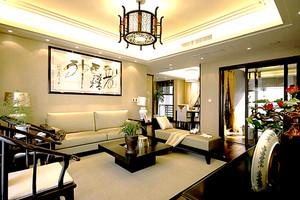 149平米中式风格古典雅韵大户型室内装修效果图