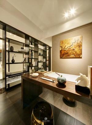 中式风格书房博古架设计装修效果图赏析