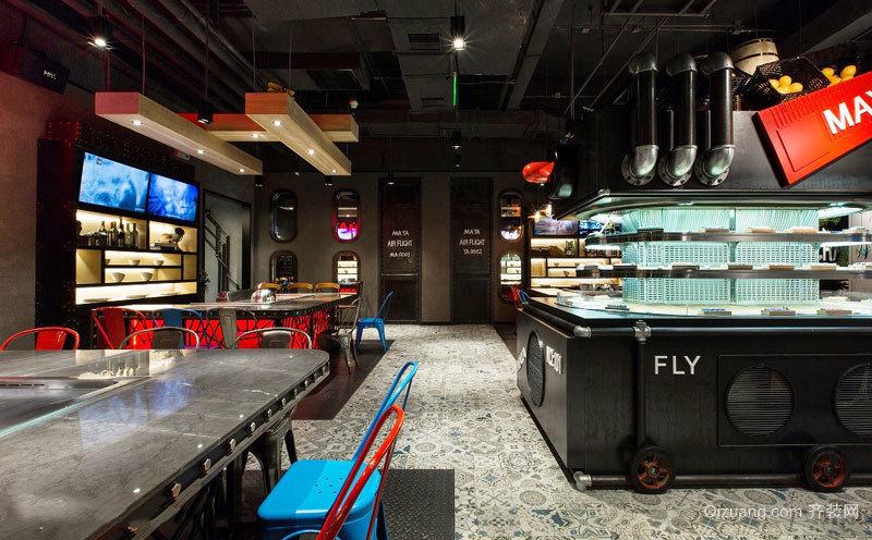 94平米后现代风格韩式料理餐厅设计装修效果图