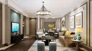 60平米欧式风格酒店客房设计装修效果图赏析