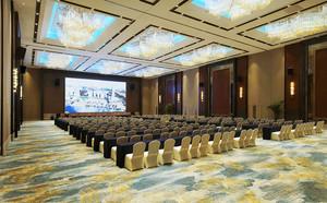 200平米中式风格酒店多功能会议厅装修效果图赏析