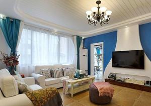 90平米地中海风格混搭精装室内装修效果图赏析