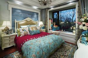 法式风格精致浪漫卧室飘窗设计装修效果图