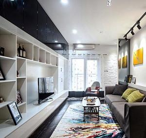 时尚混搭风格文艺简约两室两厅室内装修效果图