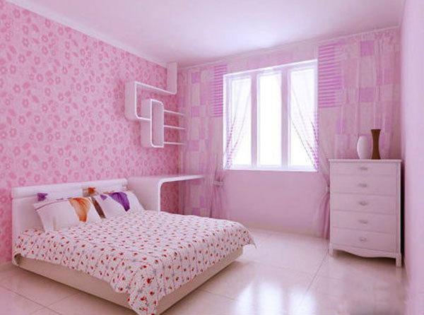 简欧风格梦幻粉色可爱儿童房装修效果图欣赏