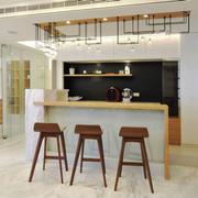 现代简约风格别墅室内开放式厨房吧台装修效果图
