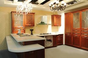 美式风格精致厨房设计装修效果图