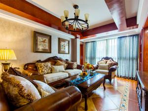 139平米美式风格精致大户型室内装修效果图赏析