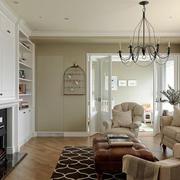 现代简约美式风格客厅设计装修效果图