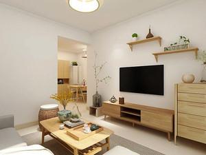 76平米日式风格简约两室两厅室内装修效果图