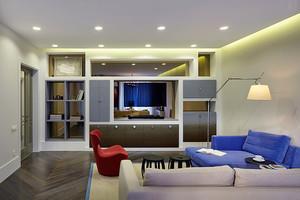 89平米现代风格精装两室两厅室内装修效果图案例