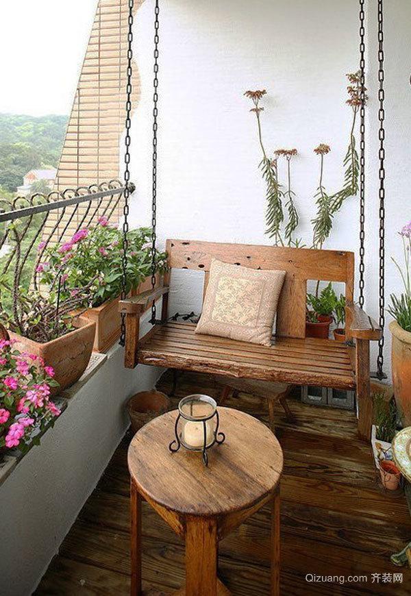 乡村风格文艺阳台花园设计装修效果图赏析