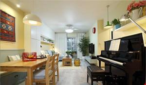 70平米宜家风格简约两室一厅设计装修效果图
