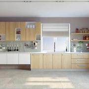 简约风格浅色整体厨房装修效果图欣赏