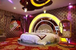 66平米欧式风格主题酒店客房设计装修效果图