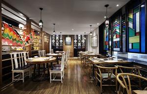 94平米混搭风格创意主题餐厅装修效果图